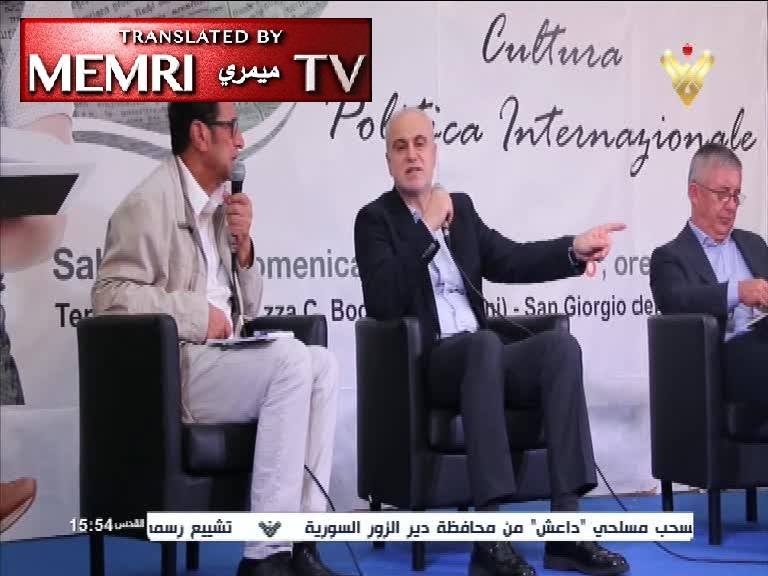 "Head of Hizbullah's Al-Manar TV Receives Award Honoring the Network's ""Martyrs"" at Italian Event Sponsored by Foreign Ministry and Parliament"