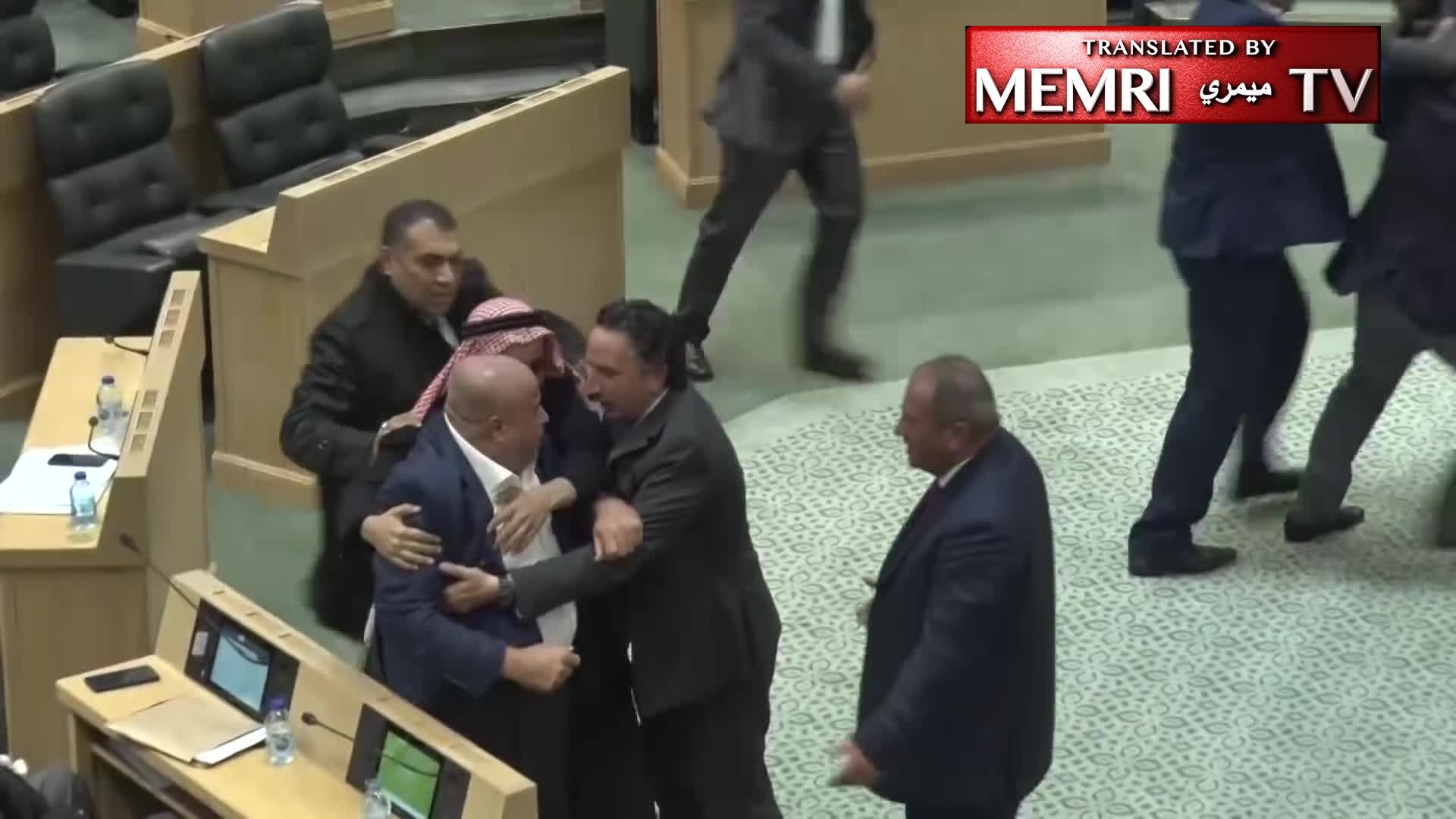 Jordanian MP's Address on Respecting Opposing Views Degenerates into Brawl during Parliamentary Session