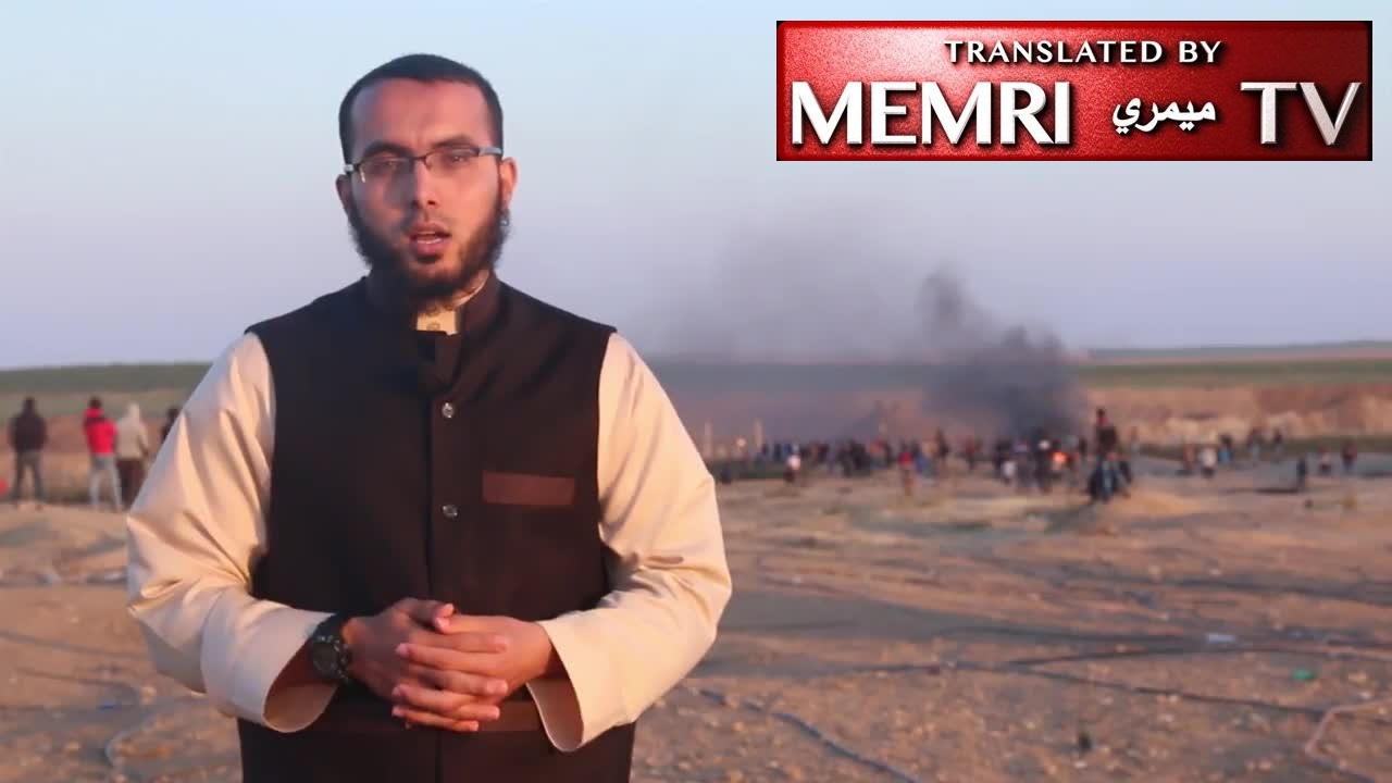 "Gaza Scholar Khaled Hany Morshid Calls to Brandish the Sword of Jihad, Fight the Jews - Scenes from Gaza ""Return March"""