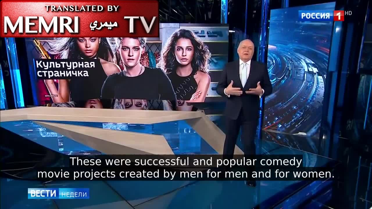 Russian TV Anchor Dmitry Kiselev Criticizes Hollywood For Promoting 'Gender' As A New Ideology That Advocates For The Suppression Of Men