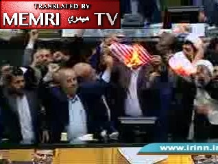 "Iranian MPs Burn U.S. Flag in Parliament, Chant ""Death to America,"" following Trump's Withdrawal from Nuclear Deal"