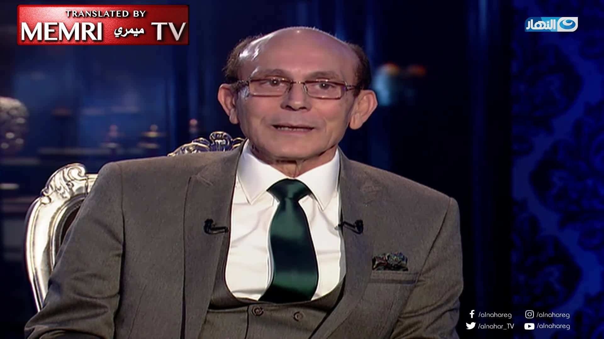 Egyptian Actor Mohamed Sobhi Says That After Airing of Antisemitic Show He Starred in, Sales of Protocols of the Elders of Zion Skyrocketed in Egypt