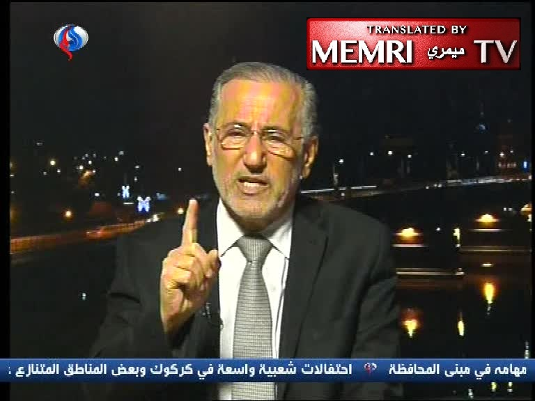 "Fmr. Iraqi National Security Advisor Mowaffak Al-Rubaei: An Independent Kurdistan Will Be a Second ""Malignant Virus"" Israel, Will Lead to Wars"