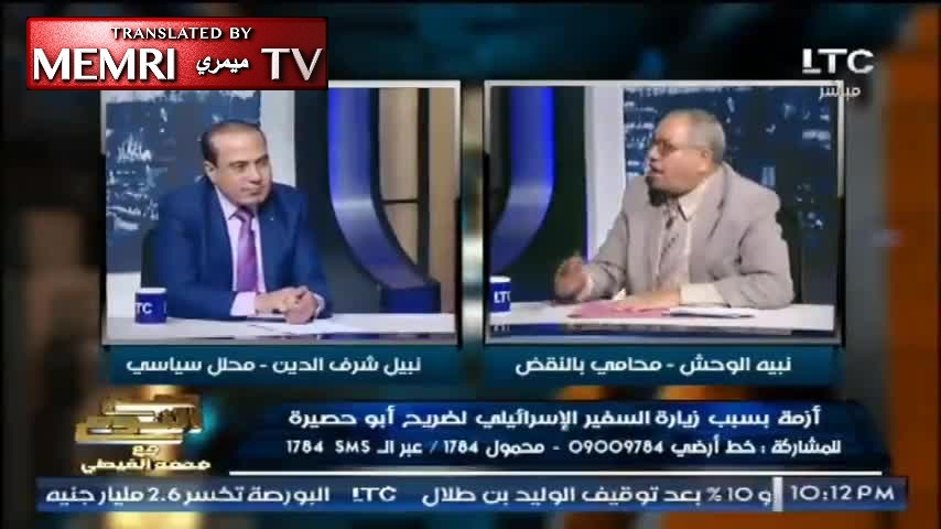 Egyptian Lawyer Nabih Al-Wahsh: I'm Proud to Be Antisemitic; Will Kill Any Israeli I Lay My Eyes On