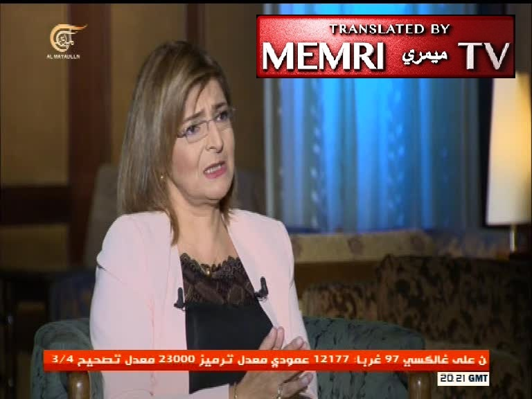 Lebanese Journalist Nadia Shreim Al-Hajj Claims: U.S.-Western Conspiracy to Expel All the Christians from the Orient