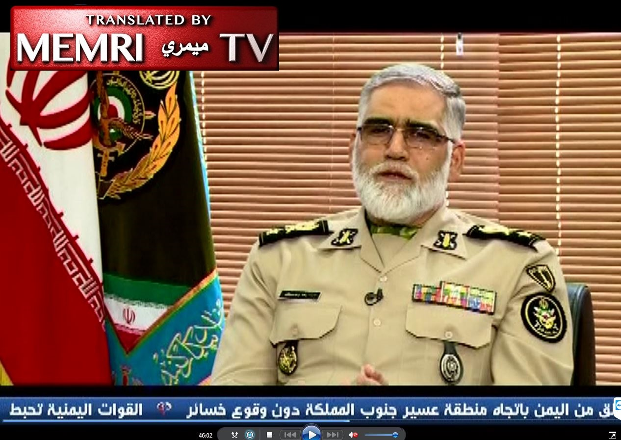 Iranian Army Deputy Commander-in-Chief Pourdastan: If America Attacks Us, We Shall Deal a Blow to the Enemy in Any Region