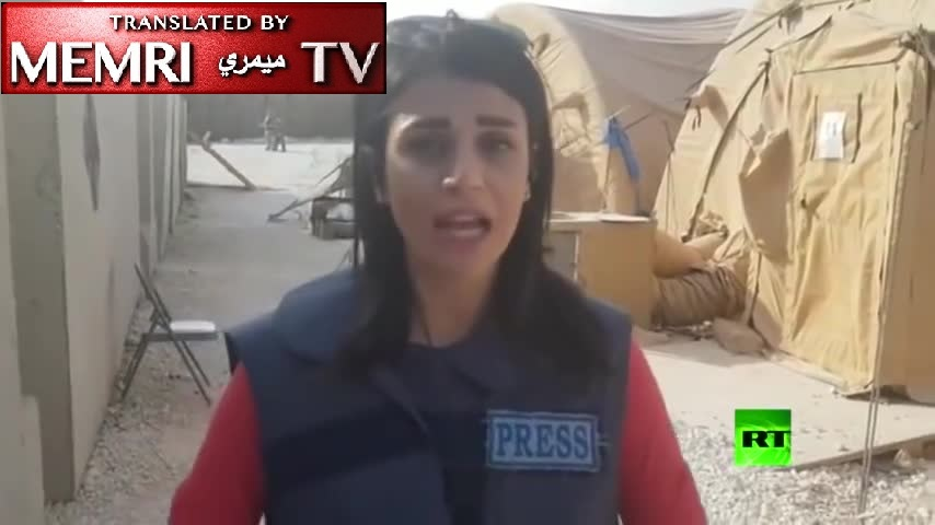 Russia Today Reporter in an Evacuated U.S. Base in Northern Syria: Everything Remains Intact