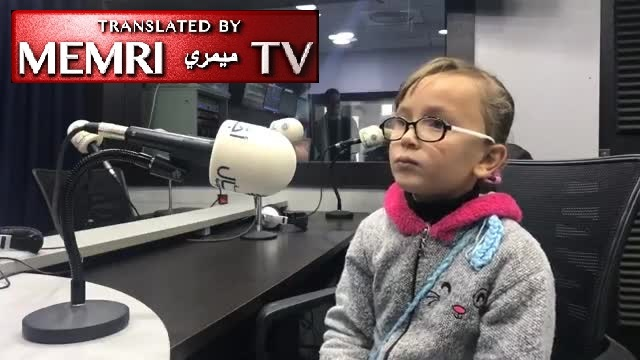 "7-Year-Old Palestinian Girl Rouaa Al-Tamimi Recites Poem about Martyrdom on Radio, Then Addresses ""Accursed Trump"" in Meeting with Education Minister"