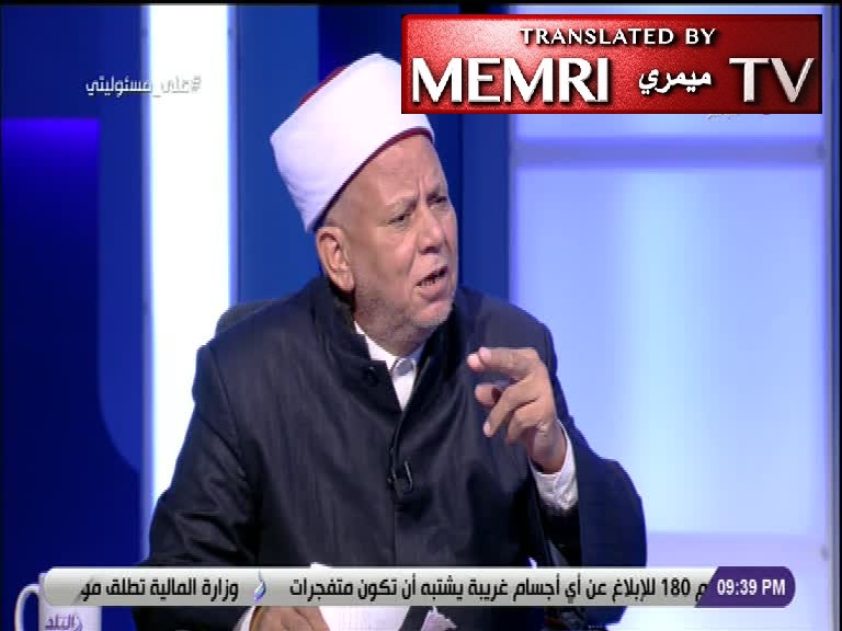 Egyptian TV Debates: Sheikh Claims There Is a Jewish Plot to Decrease Egypt's Population, Political Sociologist Claims the Plot Is to Increase It