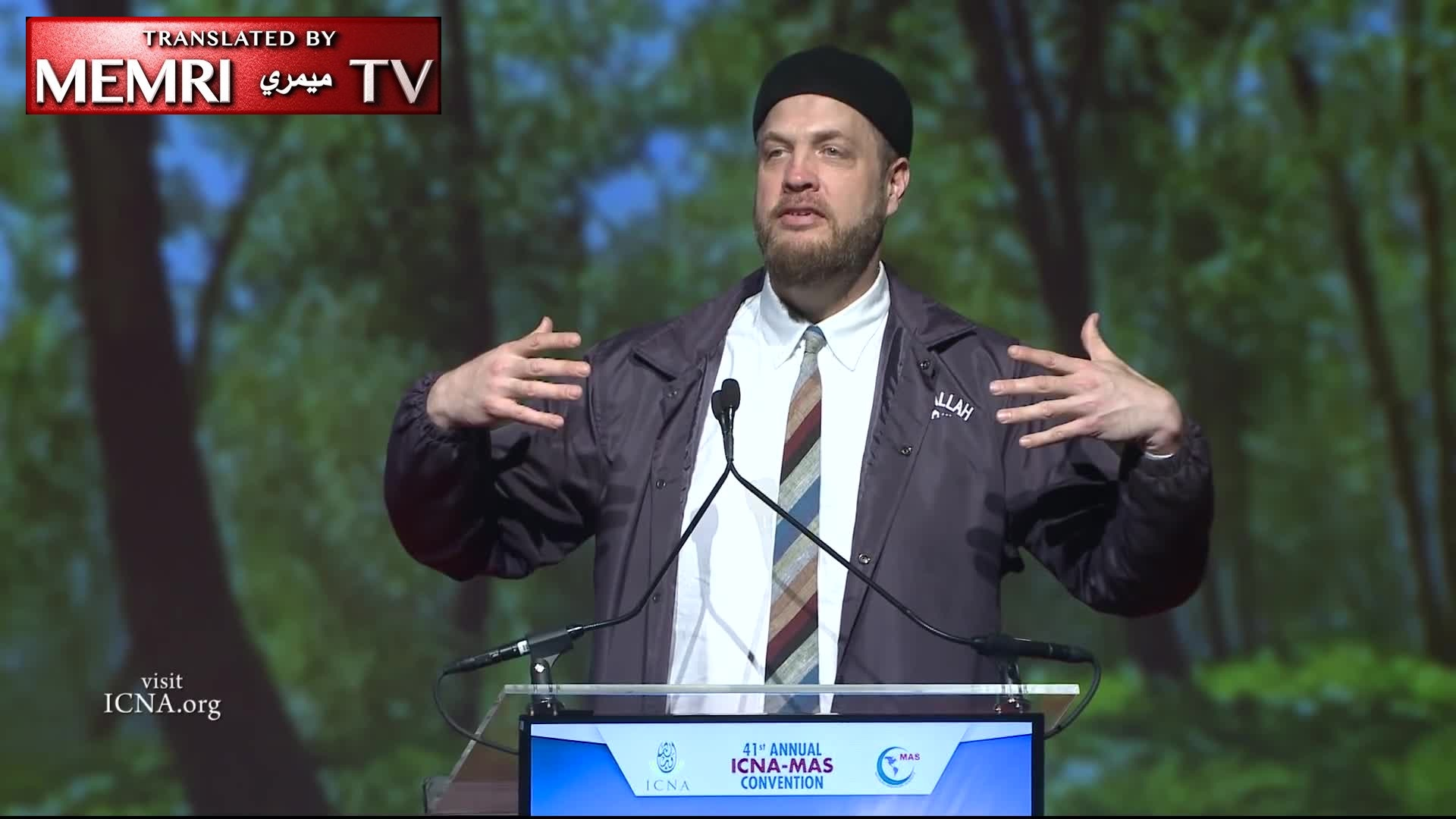 "American Imam Suhaib Webb Denounces ""Whiteness"" and ""Disinvests"" from His ""White Male Privilege""; Says Donald Trump Is Worse than ISIS (Archival)"