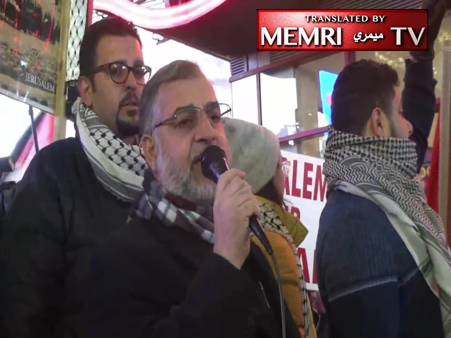 Antisemitic Chants, Calls for New Intifada at a Times Square Demonstration Protesting Trump's Jerusalem Declaration