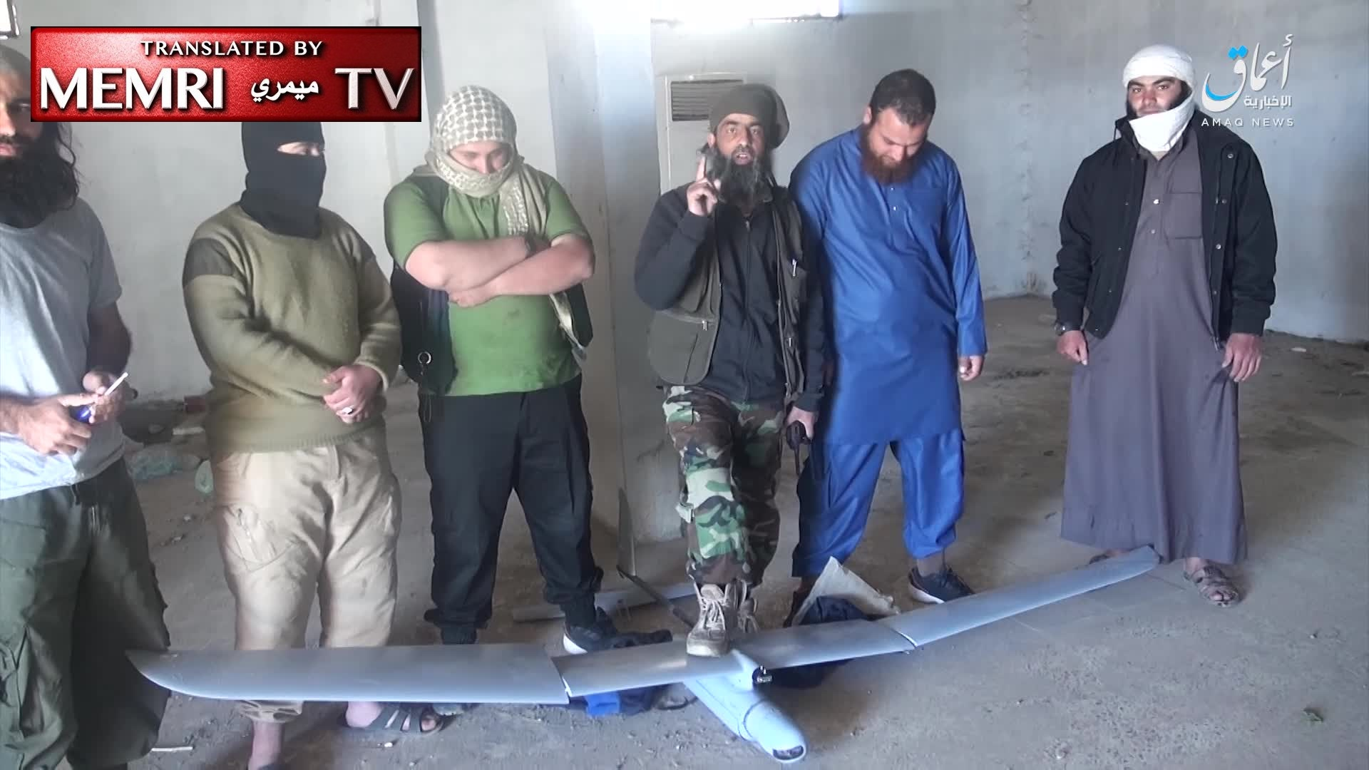 ISIS Members Display U.S. Drone in Syria: We Shall Invade You in Rome, Capture Your Women, Slaughter You