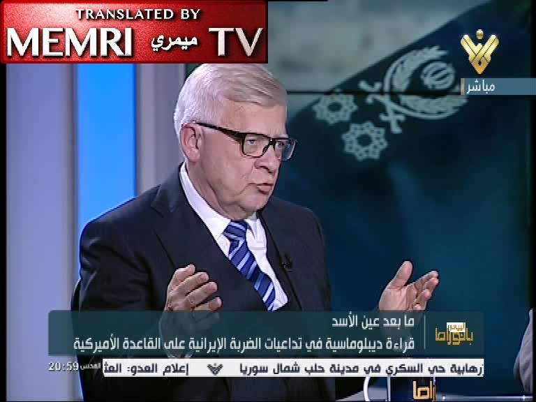 "Russian Ambassador to Lebanon Alexander Zasypkin to Hizbullah TV: Soleimani's Killing was Illegal; He was a ""Fighter for Justice and for the Rights of the Peoples"""