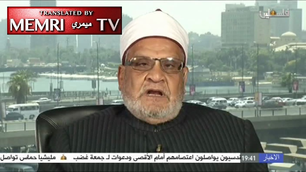 Al-Azhar Professor Ahmad Karima: The Jews Are Warmongers and Plotters by Nature; Wage Armed Jihad against the Zionist Gang