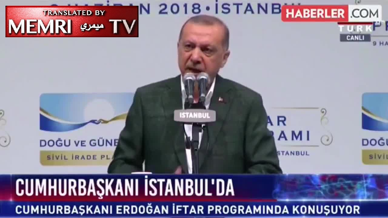 "Turkish President Recep Tayyip Erdoğan Warns of ""War between the Cross and the Crescent"" following Austria's Plan to Deport Imams"