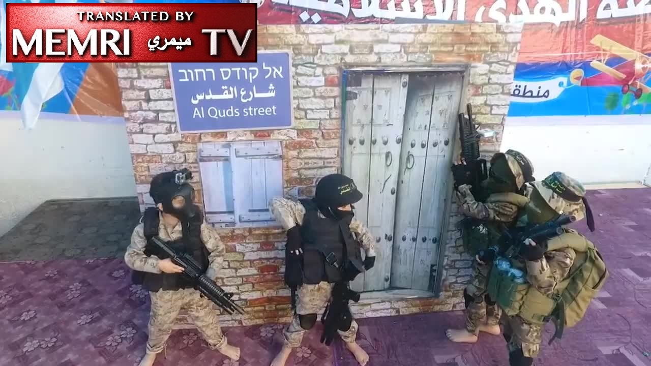 Gaza Kindergarten Graduation Ceremony: Kids Stage Mock Military Attack and Hostage-Taking