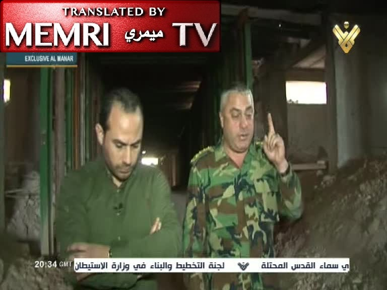 Syrian Army Officer Lu'ayy Shehadeh: We Are Now Experts in Tunnel Warfare, Both Offensive and Defensive; Civil War Gave Us Valuable Experience for Future War with Israel