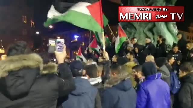 Demonstration in Malmö, Sweden in Protest of U.S. Jerusalem Declaration: Shoot Jews, the Army of Muhammad Is Coming Back