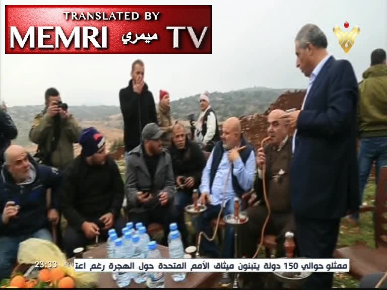 Hizbullah TV Report: South Lebanese Locals Organize a BBQ on the Border to Ridicule Israeli Anti-Tunnel Activity