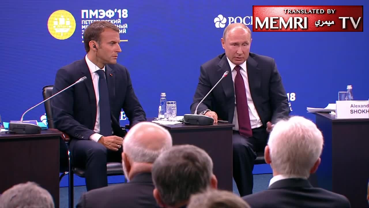 "Macron: Europe ""from the Atlantic to the Urals""; Putin: ""from Lisbon to Vladivostok"""